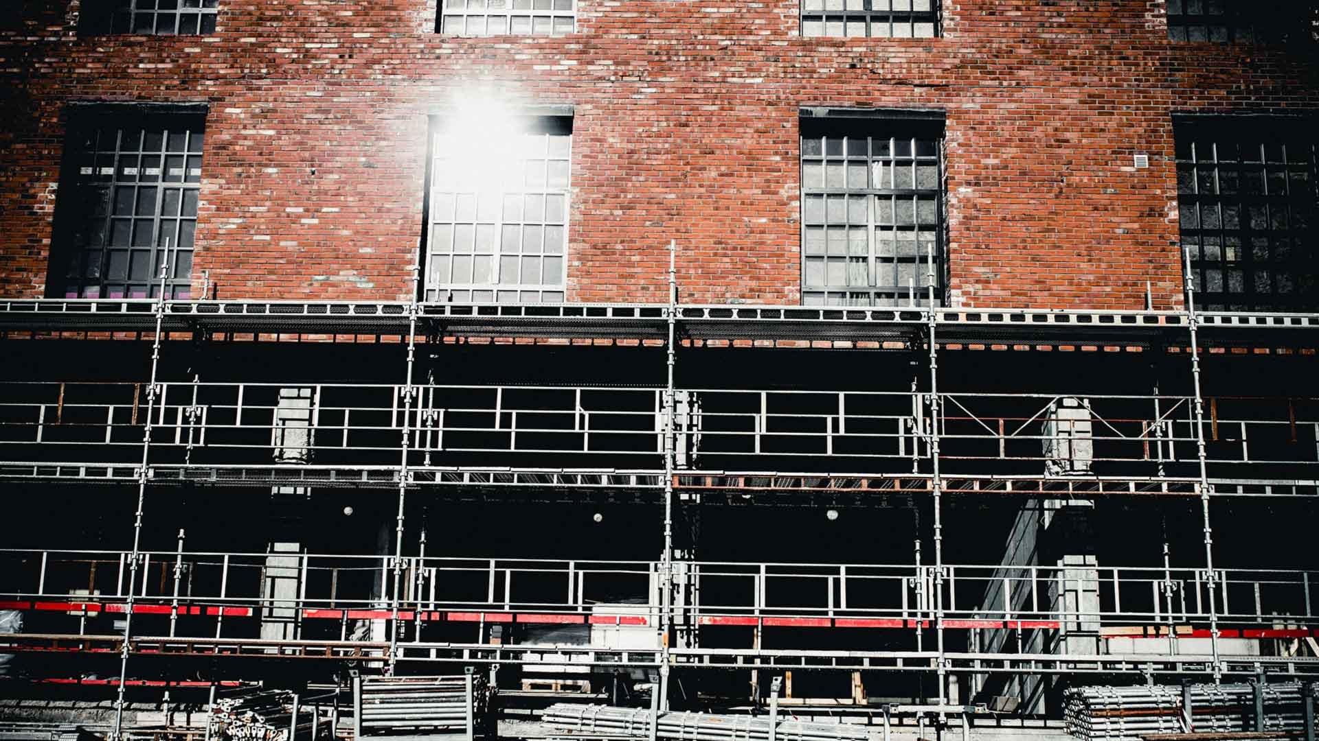 renovert murbygning på hasle med betydelig grad av resurkulasjon av byggmaterialer