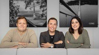 Nå søker de nye kolleger. Fra venstre: Ronny van der Spa, Cecilie Moe og Ayla Mari Svendsgård Kristensen.