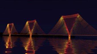 Split-pylon concept bridge to cross Strait of Gibraltar, with two 5km main spans