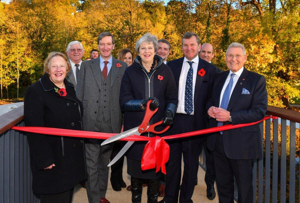 Theresa May opens Taplow Footbridge